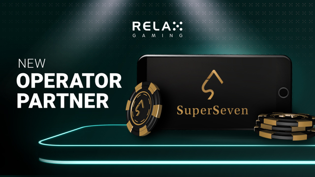 Relax Gaming signs with SuperSeven