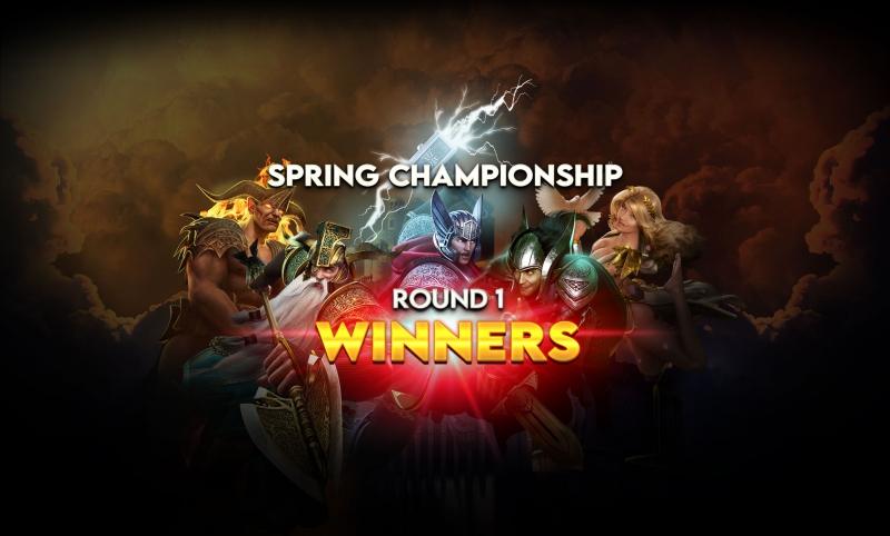 Spring Championship- Round's 1 Big Winners!
