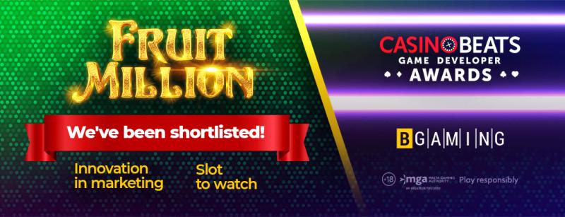 BGaming has been shortlisted for CasinoBeats Game Developer Awards