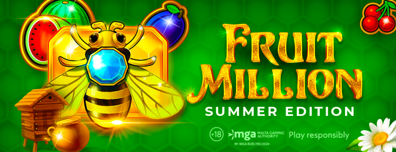 Summer edition of Fruit Million slot is available for players